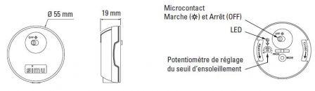 capteur soleil int rieur pour volet roulant simu. Black Bedroom Furniture Sets. Home Design Ideas