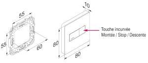 emetteur hz s quentiel new design simu compatible avec les moteurs simu pour volets roulants ou. Black Bedroom Furniture Sets. Home Design Ideas