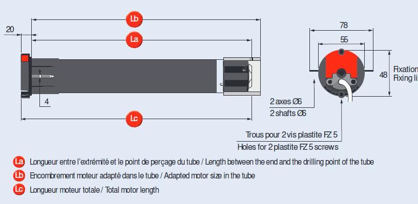 moteur t5 esp 35 17 simu pour store casette. Black Bedroom Furniture Sets. Home Design Ideas