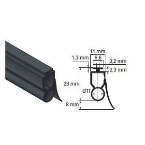 profil caoutchouc composant pour lames hauteur maxi 75 mm accessoires de s curit lames palpeuses. Black Bedroom Furniture Sets. Home Design Ideas