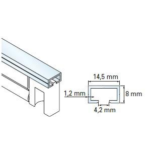 rail de 1m alu pour lame palpeuse simu composant pour lame de hauteur maximum 75mm accessoires de. Black Bedroom Furniture Sets. Home Design Ideas